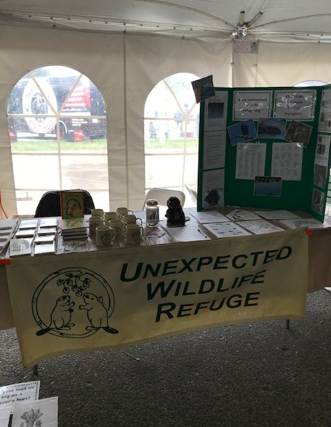 Refuge table at ACUA Earth Day Festival, Unexpected Wildlife Refuge photo