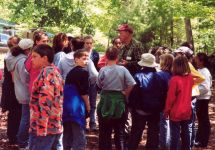 Augie Sexauer educating children about wildlife, Unexpected Wildlife Refuge photo