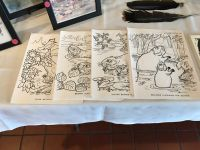 Coloring sheets by Hope Sawyer Buyukmihci, artist and Refuge co-founder