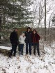 Ethan Winter, Brooks Mongiello, Matthew Leister and Randi Fair, volunteers, Unexpected Wildlife Refuge photo